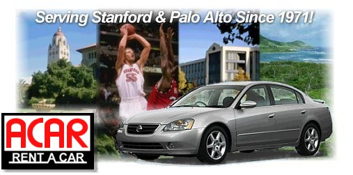 ACAR Rent A Car - Low cost car rentals in Palo Alto, CA, Serving Stanford University, Menlo Park, Mountain View, Palo Alto, Stanford University, car rental, Palo Alto CA, Palo Alto California, Stanford rental cars, Stanford car rental, budget car rental, car rental, cheap car rentals,